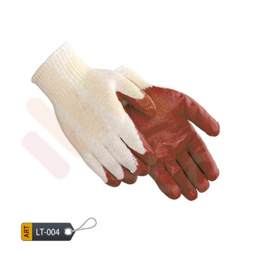 Latex coated magenda gloves by ELC faisalabad (LT-004)