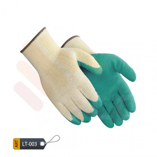 Latex gloves coated teal by ELC faisalabad (LT-003)