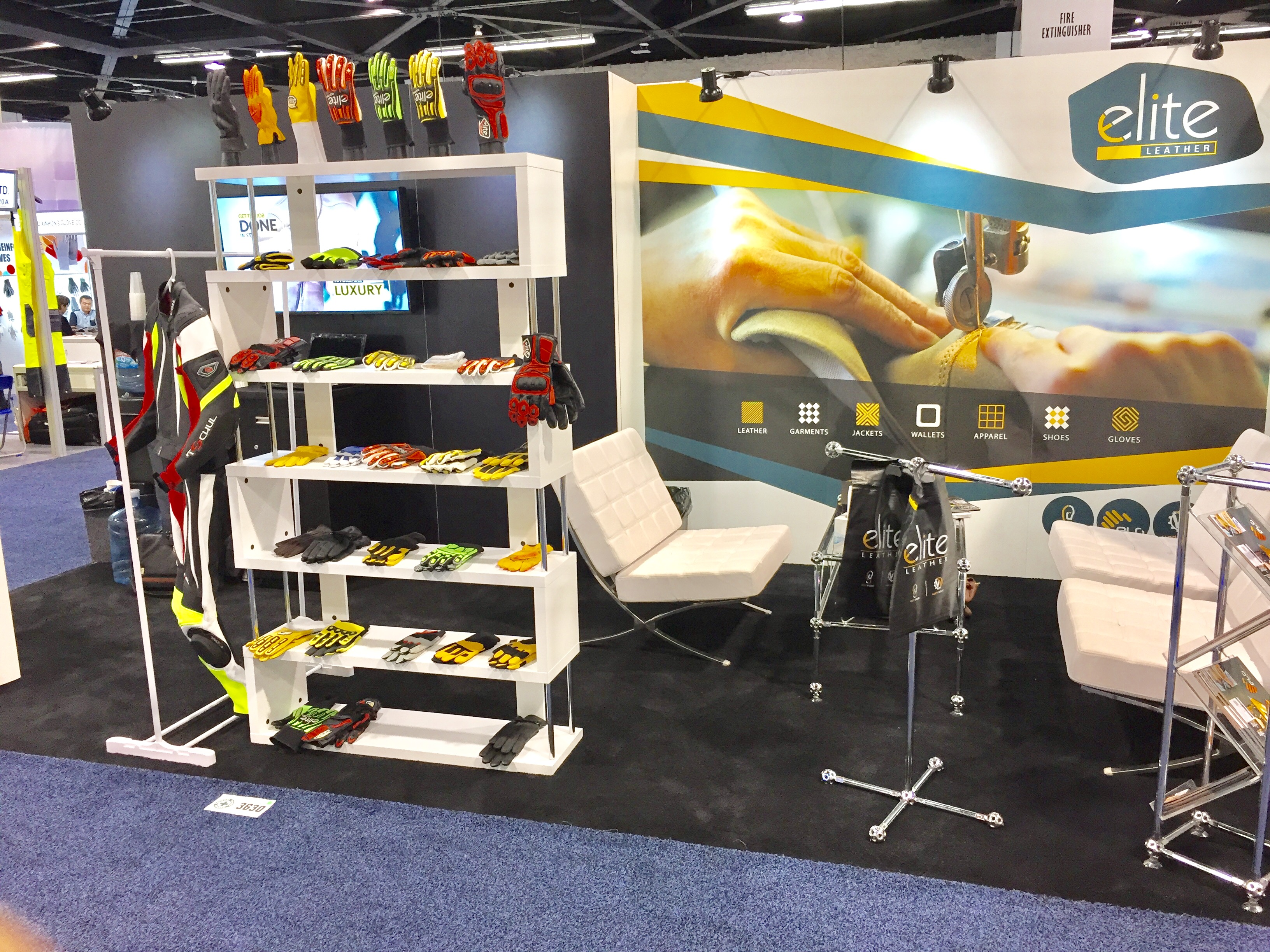 Elite Leather NSC 2016 Booth 3630 Seating Arrangement
