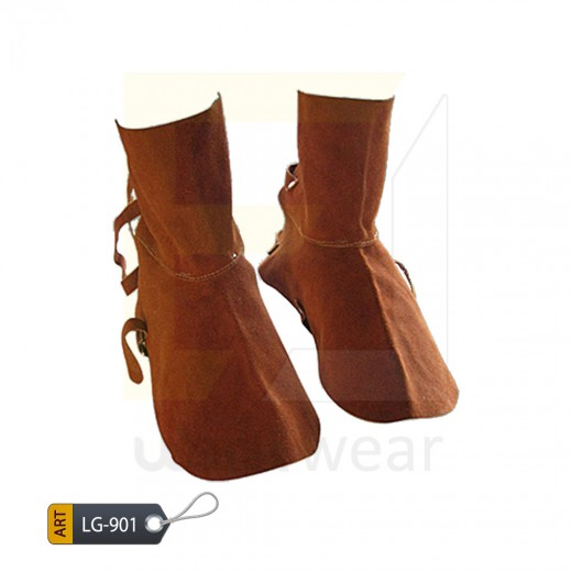 EL Split Leather Welder Leg Guard Karachi Manufactured (WJ-901)