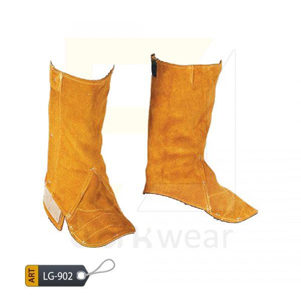 EL Split Leather Welder Leg Guard Karachi Manufactured (WJ-902)