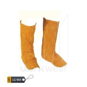 EL Split Leather Welder Leg Guard Karachi Manufactured (WJ-904)