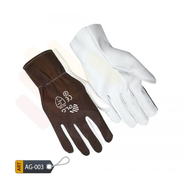Taupe Leather Assembly Gloves by Elite Leather Creations