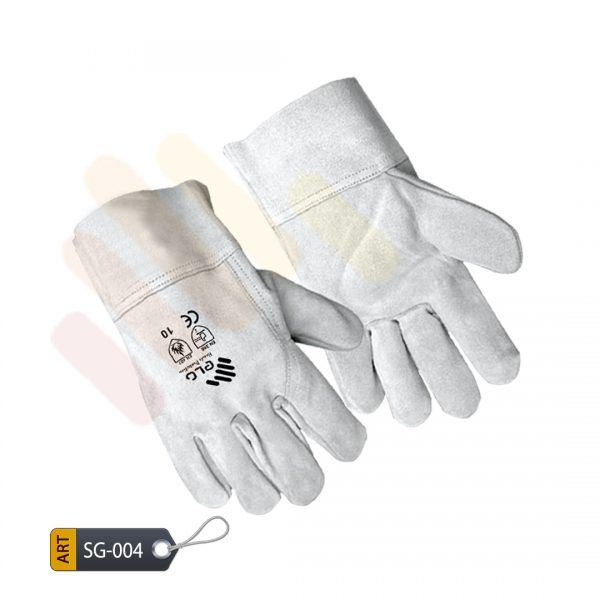 Celadon Leather Split Gloves by ELC Karachi (SG-004)