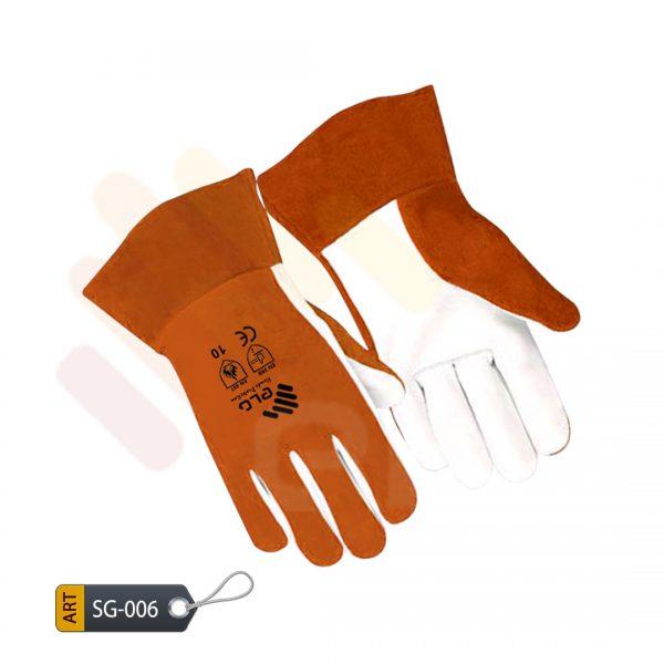 Safron Leather Split Gloves by ELC Karachi (SG-006)