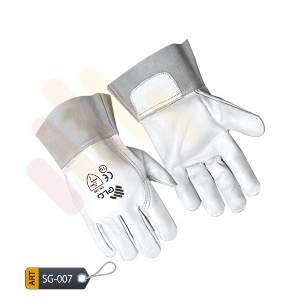 Tangerine Leather Split Gloves by ELC Karachi (SG-007)