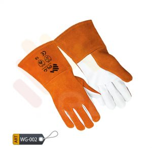 Scarlet Leather Welder Gloves by ELC Karachi (WG-002)