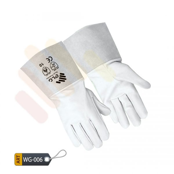 Mauve Leather Welder Gloves by ELC Karachi (WG-006)