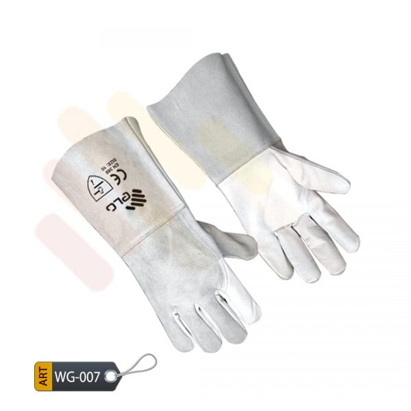 Lilac Leather Welder Gloves by ELC Karachi (WG-007)