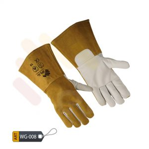 Goldenrod Leather Welding Gloves by ELC Karachi (WG-008)