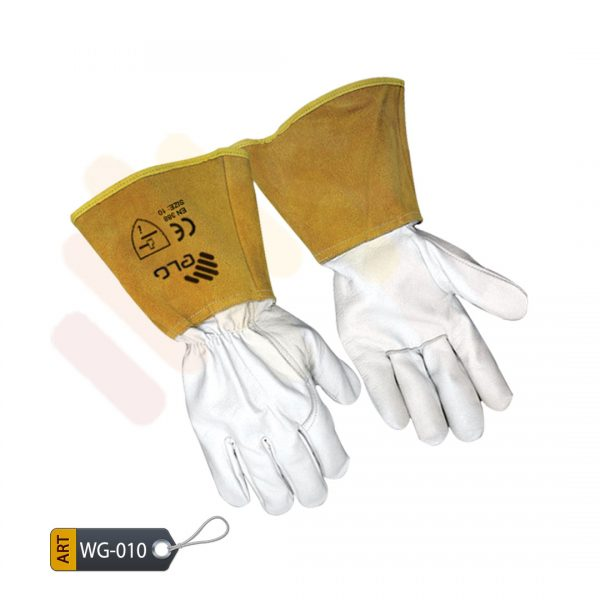 Crimson Leather Welding Gloves by ELC Karachi (WG-010)