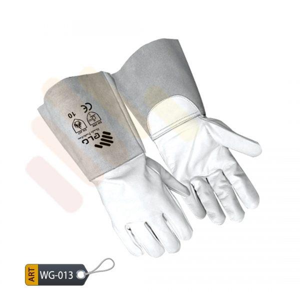 Claret Leather Welding Gloves by ELC Karachi (WG-013)
