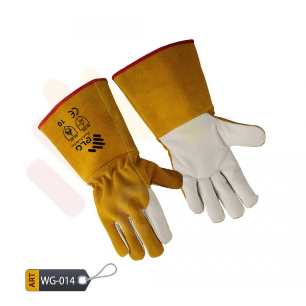 Golddust Leather Welding Gloves by ELC Karachi (WG-014)
