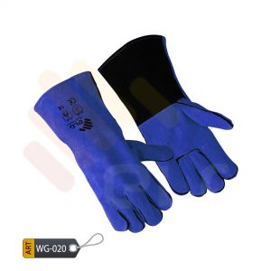 Cerulean Leather Welding Gloves by ELC Karachi (WG-020)