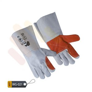 Cinerous Leather Welding Gloves by ELC Karachi (WG-021)