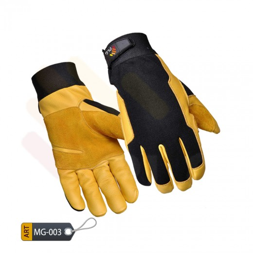Mechanic Performance Gloves Leather by ELC Pakistan (MG-003)