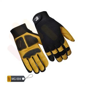 Impostor Deerskin Leather Mechanic Performance Gloves by ELC Pakistan (MG-004)
