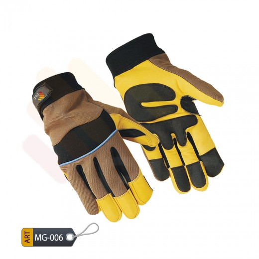 Mechanic Performance Gloves Leather by ELC Pakistan (MG-006)