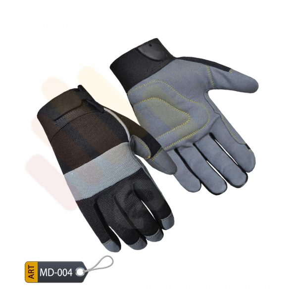 Padded Mechanic Performance Gloves Synthetic by ELC Karachi (MD-004)