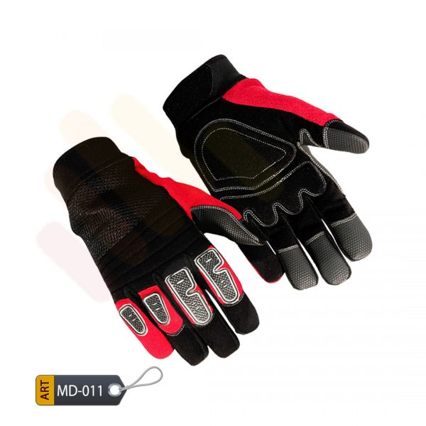 Cinnabar Mechanic Performance Gloves Synthetic by ELC Karachi (MD-011)
