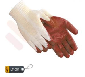 Latex Coated Magenta Gloves
