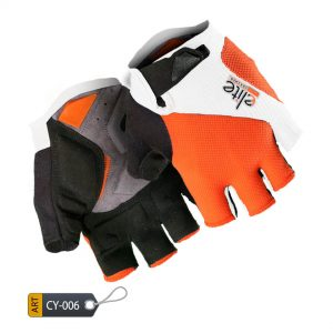 Shockproof Half Finger Cycling Gloves BoultMax by Elite Leather (CY-006)