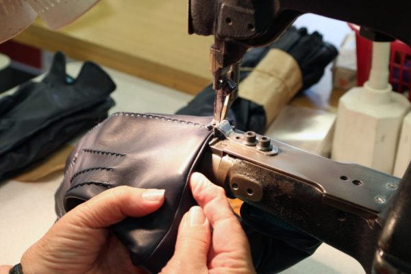 Sewing Process of Leather