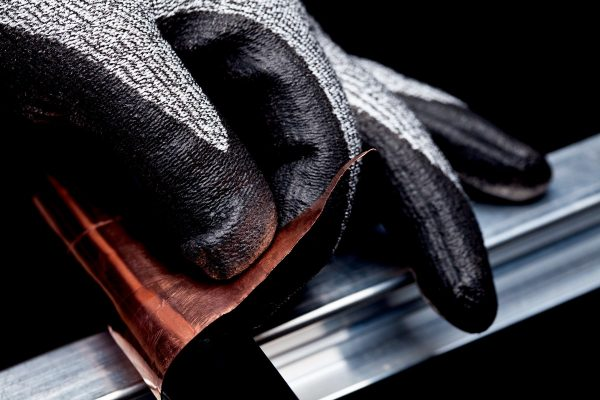 use of leather touch screen gloves