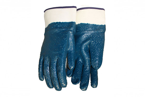 Hand Protection With Nitrile Coated Gloves