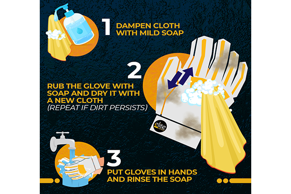 Rub The Soap On The Gloves