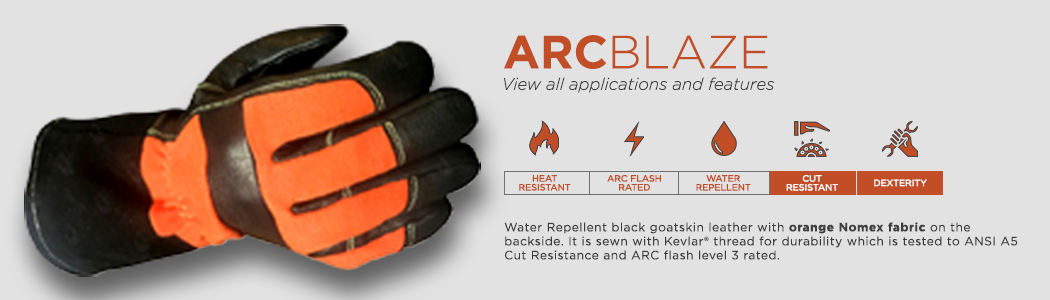 ArcBlaze gloves applications and features