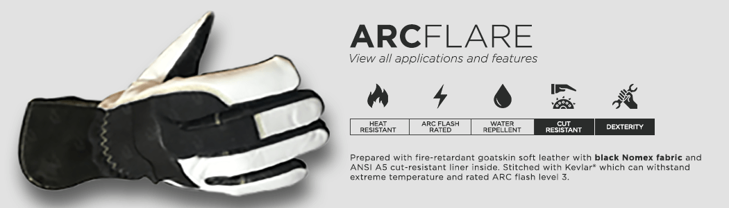 ArcFlare gloves applications and features