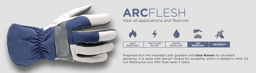 ArcFlesh gloves applications and features