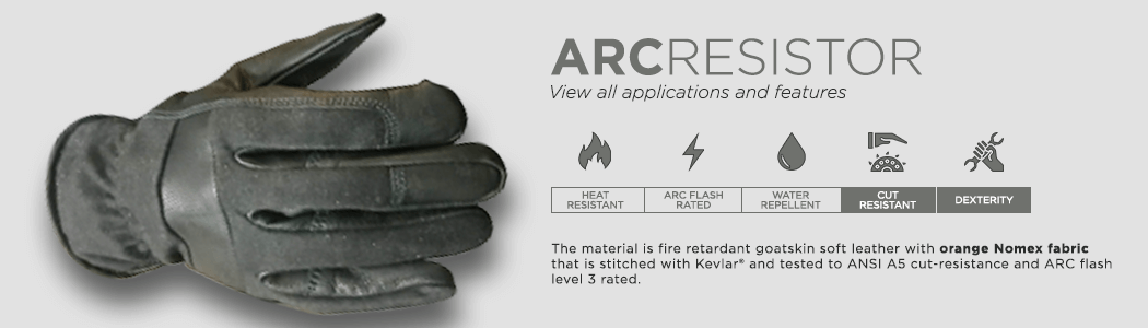 ArcResistor gloves applications and features