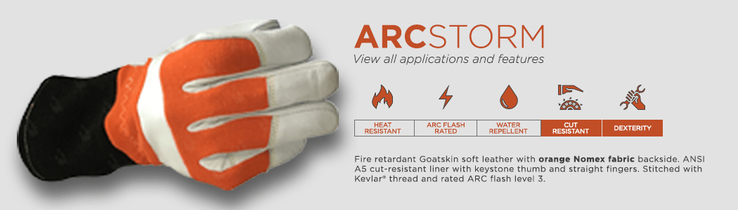 ArcStorm gloves applications and features