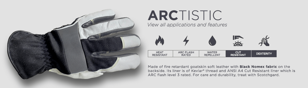 ArcTistic gloves applications and features