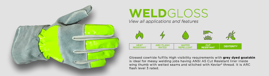 WeldGloss gloves applications and features