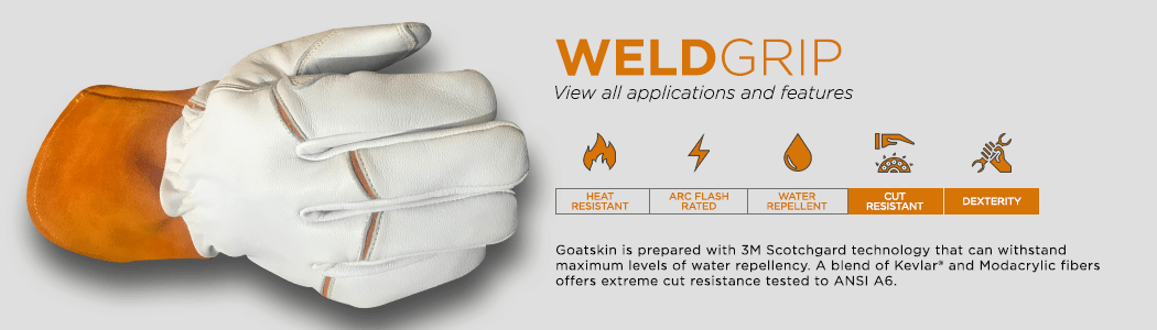 WeldGrip gloves applications and features