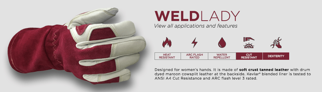 WeldLady gloves applications and features