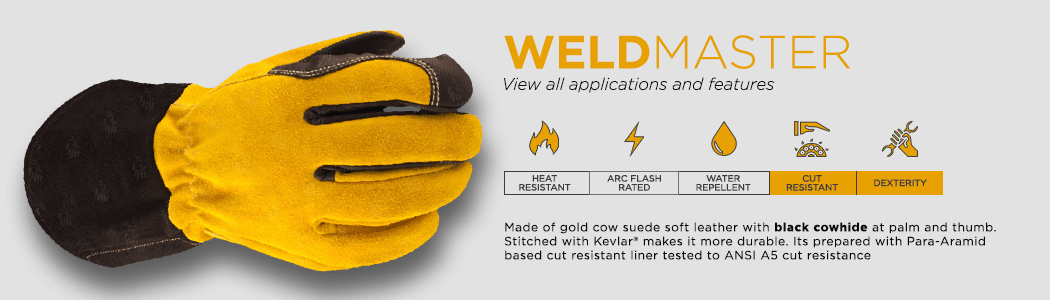 WeldMaster gloves applications and features