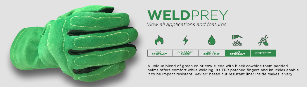 WeldPrey gloves applications and features