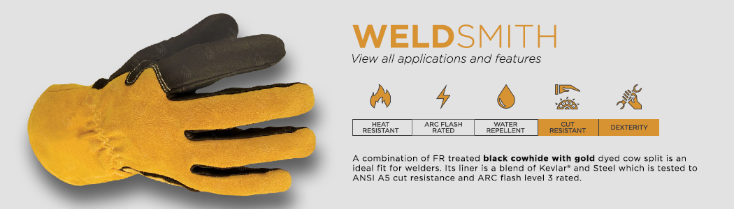 WeldSmith gloves applications and features