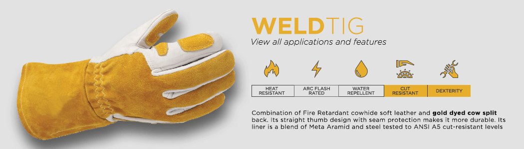 WeldTig gloves applications and features