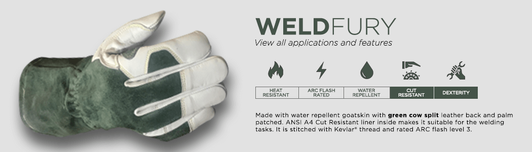 Weldfury gloves applications and features