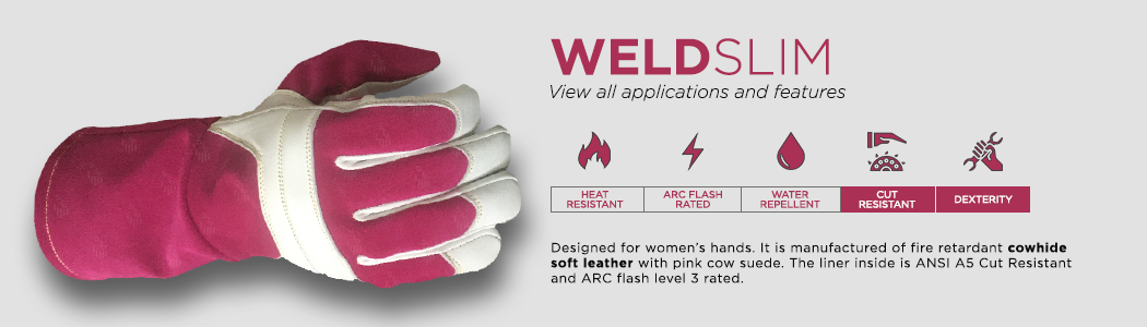 Weldslim gloves applications and features