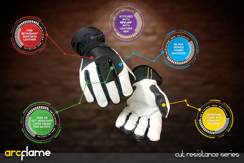 arc flame gloves - cut resistance gloves series by elite leather
