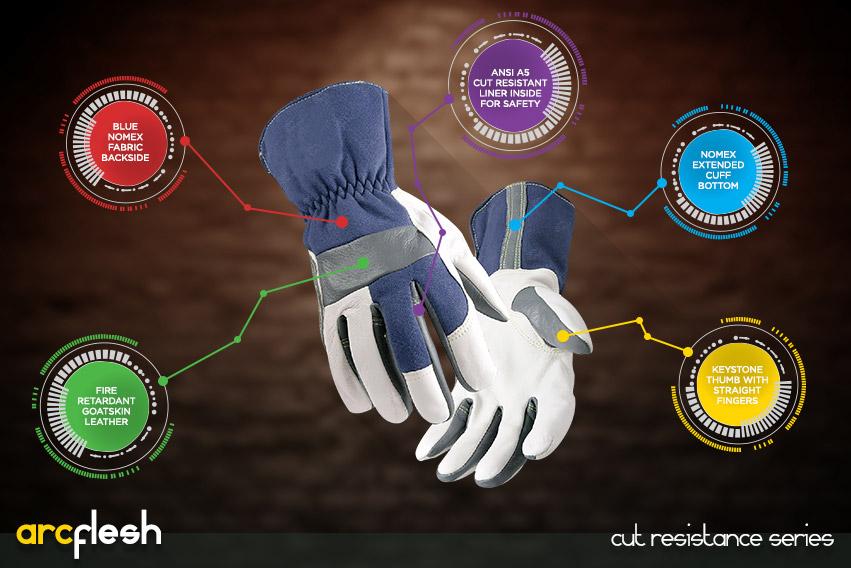 arc flesh gloves - cut resistance gloves series by elite leather