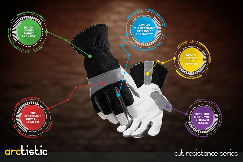 arctistic-gloves - cut resistance gloves series by elite leather