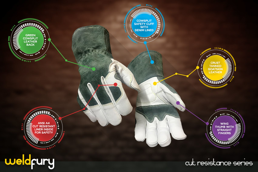 weld-fury-gloves - cut resistance gloves series by elite leather