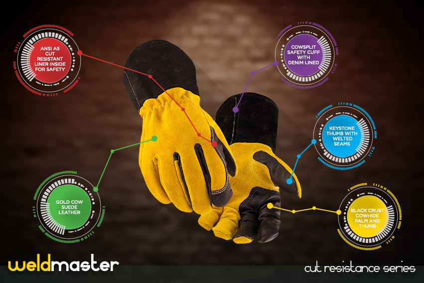 weld-master-gloves - cut resistance gloves series by elite leather